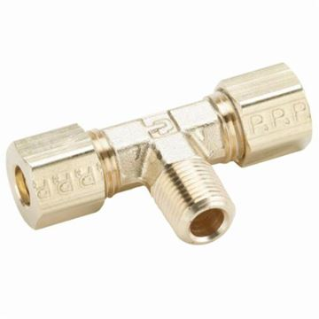 Tube to Female Pipe Parker 177CA-4-2 Compress-Align Compression Fitting Forged Brass 1//4 1//4 Compression Branch Tee