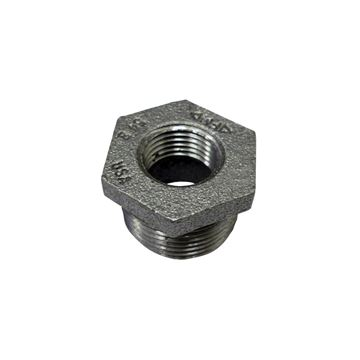 Picture of 1 X 1/2 STD BLACK HEX BUSHING DOM