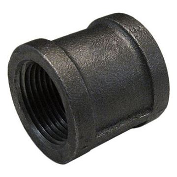 Picture of 1/2 STD BLACK MALLEABLE COUPLING DOM