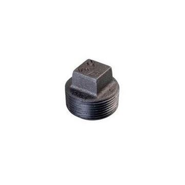 Picture of 2 1/2 STD BLACK SQUARE HEAD PLUG DOMESTIC