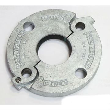 2 Inch 125/150 Galvanized Groove Flange Adapter 741 With Gasket; Victaulic