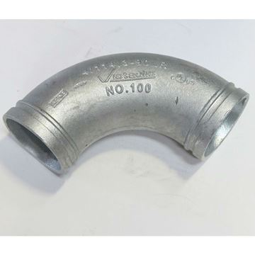 4 Inch Grooved Long Radius 90 Elbow 100 Galvanized