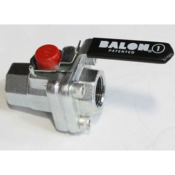 1 Inch Balon Class 3000 RP Carbon Steel x Stainless Steel Threaded Ball Valve Nace