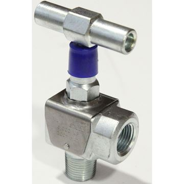 1/2 Inch Class 6000 Male x Female Angle Carbon Steel Threaded Needle Valve