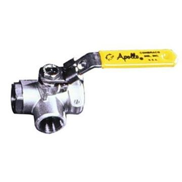 Picture of 7660101A 1/4 800 SS 3-WAY THD BALL VALVE APOLLO