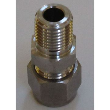 Picture of 3/8 ONE-LOK X 1/4 MNPT SS MALE CONNECTOR HAMLET 6-4 768HL-SS