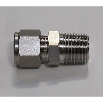 Picture of 1/2 LET-LOK X 1/2 MNPT SS MALE CONNECTOR HAMLET 8-8 768L-SS