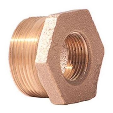 Picture of 1/2 X 1/8 BRASS HEX BUSHING DOM