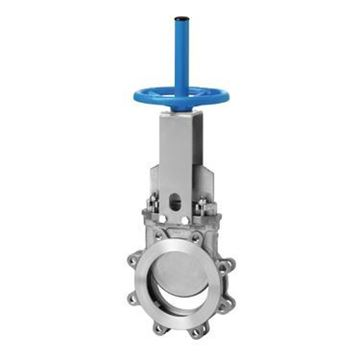 Picture of 20-3434M-12 ORBINOX 12 150 304 SS BODY AND GATE METAL SEAT KNIFE GATE VALVE W/ HANDWHEEL