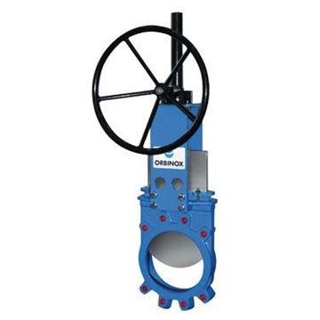 Picture of 20-3434R(E)-10 ORBINOX 10 150 304 SS BODY AND GATE EPDM SEAT KNIFE GATE VALVE W/ HANDWHEEL
