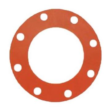 Picture of 10 150 FF 1/8 RED RUBBER GASKET AMEPAC 710