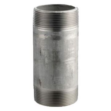 Picture of 1/4 X 1 1/2 S40 316 SS NIPPLE TBE
