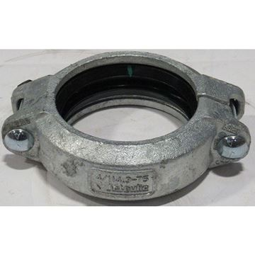 Picture of 3 LW GRV CPL 75 GALVANIZED VICTAULIC WITH EPDM TYPE E GASKET