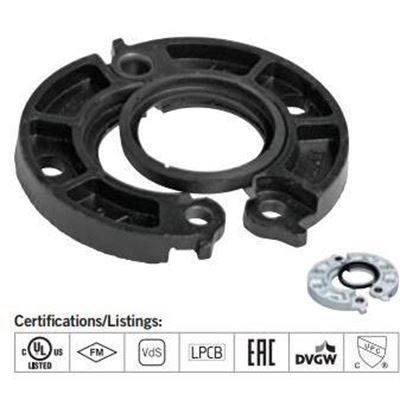 Picture of 10 125/150 PAINTED GRV FLANGE ADAPTER 741 W/ E GASKET VICTAULIC