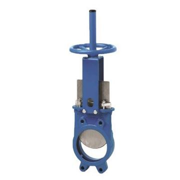 Picture of 4 150 WFR CI BODY 304 SS GATE METAL SEAT KNIFE GATE VALVE ORBINOX SERIES 10-2134M-04