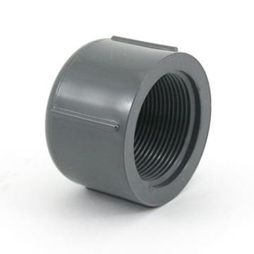 Picture of 3/8 S80 PVC THD CAP 848003