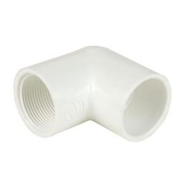 White 1-1//2 x 1 Socket Schedule 40 90 Degree Elbow Spears 406 Series PVC Pipe Fitting