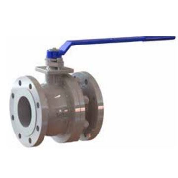 Picture of GWC 1 1/2 150 RF FLANGED A216WCB FP CAST STEEL BALL VALVE SPLIT BODY 316 SS TRIM RTFE SEATS WITH HANDLE B150-1-BC