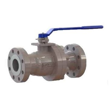 Picture of 2 GWC 600 RF FLGD A216WCB FP CAST STEEL BALL VALVE SPLIT BODY 316 SS TRIM DELRIN SEATS WITH HANDLE B600-1-BC-J1-L