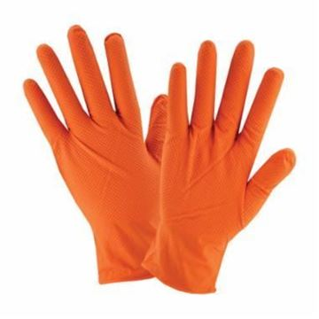 GLOVE 7 MIL POWDER FREE ORANGE NITRILE LARGE