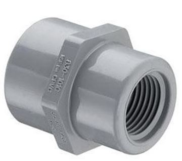 Picture of 3/4 X 1/2 S80 CPVC THD COUPLING 830101C